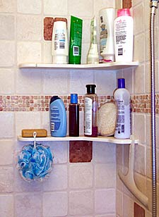 Beautiful The Shampoo U0026 Soap Caddy Shelf Is Designed To Complement Your Bathroom  Tile Or Stone As